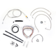Stainless Braided Handlebar Cable and Brake Line Kit for Use w/Mini Ape Hangers (w/o ABS) - LA-8010KT2-08