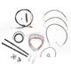 Black Vinyl Handlebar Cable and Brake Line Kit for Use w/Mini Ape Hangers - LA-8010KT2-08B