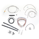 Stainless Braided Handlebar Cable and Brake Line Kit for Use w/18 in. - 20 in. Ape Hangers - LA-8010KT2-19