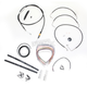 Black Vinyl Handlebar Cable and Brake Line Kit for Use w/18 in. - 20 in. Ape Hangers - LA-8010KT2-19B