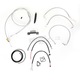 Stainless Braided Handlebar Cable and Brake Line Kit for Use w/Mini Ape Hangers (W/O ABS) - LA-8011KT2-08