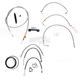 Stainless Braided Handlebar Cable and Brake Line Kit for Use w/12 in. - 14 in. Ape Hangers (W/O ABS) - LA-8011KT2-13