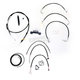 Black Vinyl Handlebar Cable and Brake Line Kit for Use w/12 in. - 14 in. Ape Hangers - LA-8011KT2-13B