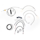 Stainless Braided Handlebar Cable and Brake Line Kit for Use w/15 in. - 17 in. Ape Hangers (W/O ABS) - LA-8011KT2-16