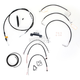 Black Vinyl Handlebar Cable and Brake Line Kit for Use w/15 in. - 17 in. Ape Hangers - LA-8011KT2-16B