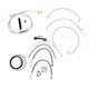 Stainless Braided Handlebar Cable and Brake Line Kit for Use w/18 in. - 20 in. Ape Hangers (W/O ABS) - LA-8011KT2-19