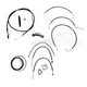 Black Vinyl Handlebar Cable and Brake Line Kit for Use w/18 in. - 20 in. Ape Hangers - LA-8011KT2-19B