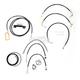 Black Vinyl Handlebar Cable and Brake Line Kit for Use w/Mini Ape Hangers - LA-8012KT2-08B