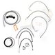 Stainless Braided Handlebar Cable and Brake Line Kit for Use w/12 in. - 14 in. Ape Hangers (W/O ABS) - LA-8012KT2-13