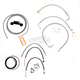 Stainless Braided Handlebar Cable and Brake Line Kit for Use w/15 in. - 17 in. Ape Hangers (W/O ABS) - LA-8012KT2-16