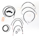 Black Vinyl Handlebar Cable and Brake Line Kit for Use w/15 in. - 17 in. Ape Hangers - LA-8012KT2-16B
