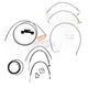 Stainless Braided Handlebar Cable and Brake Line Kit for Use w/18 in. - 20 in. Ape Hangers (W/O ABS) - LA-8012KT2-19