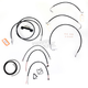 Black Vinyl Handlebar Cable and Brake Line Kit for Use w/18 in. - 20 in. Ape Hangers - LA-8012KT2-19B