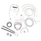 Stainless Braided Handlebar Cable and Brake Line Kit for Use w/Mini Ape Hangers - LA-8050KT2-08