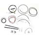 Black Vinyl Handlebar Cable and Brake Line Kit for Use w/Mini Ape Hangers - LA-8050KT2-08B