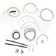 Stainless Braided Handlebar Cable and Brake Line Kit for Use w/15 in. - 17 in. Ape Hangers - LA-8050KT2-16