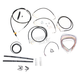 Black Vinyl Handlebar Cable and Brake Line Kit for Use w/15 in. - 17 in. Ape Hangers - LA-8050KT2-16B