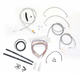 Stainless Braided Handlebar Cable and Brake Line Kit for Use w/Mini Ape Hangers (W/ABS) - LA-8051KT2-08