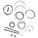 Black Vinyl Handlebar Cable and Brake Line Kit for Use w/Mini Ape Hangers - LA-8051KT2-08B