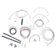 Stainless Braided Handlebar Cable and Brake Line Kit for Use w/18 in. - 20 in. Ape Hangers - LA-8051KT2-19