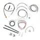 Black Vinyl Handlebar Cable and Brake Line Kit for Use w/18 in. - 20 in. Ape Hangers - LA-8051KT2-19B
