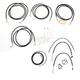 Black Vinyl Handlebar Cable and Brake Line Kit for Use w/Mini Ape Hangers - LA-8052KT2-08B