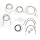 Stainless Braided Handlebar Cable and Brake Line Kit for Use w/15 in. - 17 in. Ape Hangers (W/ABS) - LA-8052KT2-16