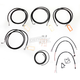 Black Vinyl Handlebar Cable and Brake Line Kit for Use w/15 in. - 17 in. Ape Hangers - LA-8052KT2-16B