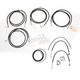 Black Vinyl Handlebar Cable and Brake Line Kit for Use w/18 in. - 20 in. Ape Hangers - LA-8052KT2-19B