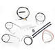 Black Vinyl Handlebar Cable and Brake Line Kit for Use w/Mini Ape Hangers (w/o ABS) - LA-8100KT2A-08B