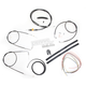Black Vinyl Handlebar Cable and Brake Line Kit for Use w/12 in. - 14 in. Ape Hangers (w/o ABS) - LA-8100KT2A-13B