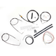 Black Vinyl Handlebar Cable and Brake Line Kit for Use w/15 in. - 17 in. Ape Hangers (w/o ABS) - LA-8100KT2A-16B