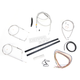 Stainless Braided Handlebar Cable and Brake Line Kit for Use w/Mini Ape Hangers - LA-8110KT2A-08