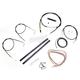 Black Vinyl Handlebar Cable and Brake Line Kit for Use w/Mini Ape Hangers - LA-8110KT2A-08B