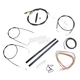 Black Vinyl Handlebar Cable and Brake Line Kit for Use w/15 in. - 17 in. Ape Hangers - LA-8110KT2A-16B
