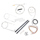 Stainless Braided Handlebar Cable and Brake Line Kit for Use w/18 in. - 20 in. Ape Hangers - LA-8110KT2A-19