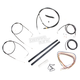 Black Vinyl Handlebar Cable and Brake Line Kit for Use w/18 in. - 20 in. Ape Hangers - LA-8110KT2A-19B