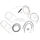 Stainless Braided Handlebar Cable and Brake Line Kit for Use w/Mini Ape Hangers - LA-8110KT2B-08