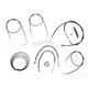 Black Vinyl Handlebar Cable and Brake Line Kit for Use w/Mini Ape Hangers - LA-8110KT2B-08B