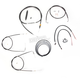 Black Vinyl Handlebar Cable and Brake Line Kit for Use w/12 in. - 14 in. Ape Hangers - LA-8110KT2B-13B