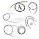 Black Vinyl Handlebar Cable and Brake Line Kit for Use w/18 in. - 20 in. Ape Hangers - LA-8110KT2B-19B
