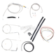 Stainless Braided Handlebar Cable and Brake Line Kit for Use w/Mini Ape Hangers (w/o ABS) - LA-8130KT2-08