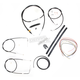 Black Vinyl Handlebar Cable and Brake Line Kit for Use w/Mini Ape Hangers (w/o ABS) - LA-8130KT2-08B