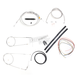 Stainless Braided Handlebar Cable and Brake Line Kit for Use w/12 in. - 14 in. Ape Hangers (w/o ABS) - LA-8130KT2-13