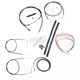 Black Vinyl Handlebar Cable and Brake Line Kit for Use w/15 in. - 17 in. Ape Hangers (w/o ABS) - LA-8130KT2-16B