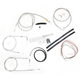 Stainless Braided Handlebar Cable and Brake Line Kit for Use w/18 in. - 20 in. Ape Hangers (w/o ABS) - LA-8130KT2-19