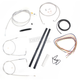 Stainless Braided Handlebar Cable and Brake Line Kit for Use w/Mini Ape Hangers (w/o ABS) - LA-8140KT2-08