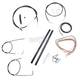 Black Vinyl Handlebar Cable and Brake Line Kit for Use w/Mini Ape Hangers (w/o ABS) - LA-8140KT2-08B