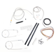 Stainless Braided Handlebar Cable and Brake Line Kit for Use w/12 in. - 14 in. Ape Hangers (w/o ABS) - LA-8140KT2-13