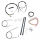 Black Vinyl Handlebar Cable and Brake Line Kit for Use w/12 in. - 14 in. Ape Hangers (w/o ABS) - LA-8140KT2-13B